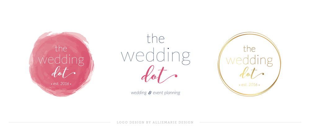 The Wedding Dot Submarks and Logo Variations, Brand Styling by AllieMarie Design