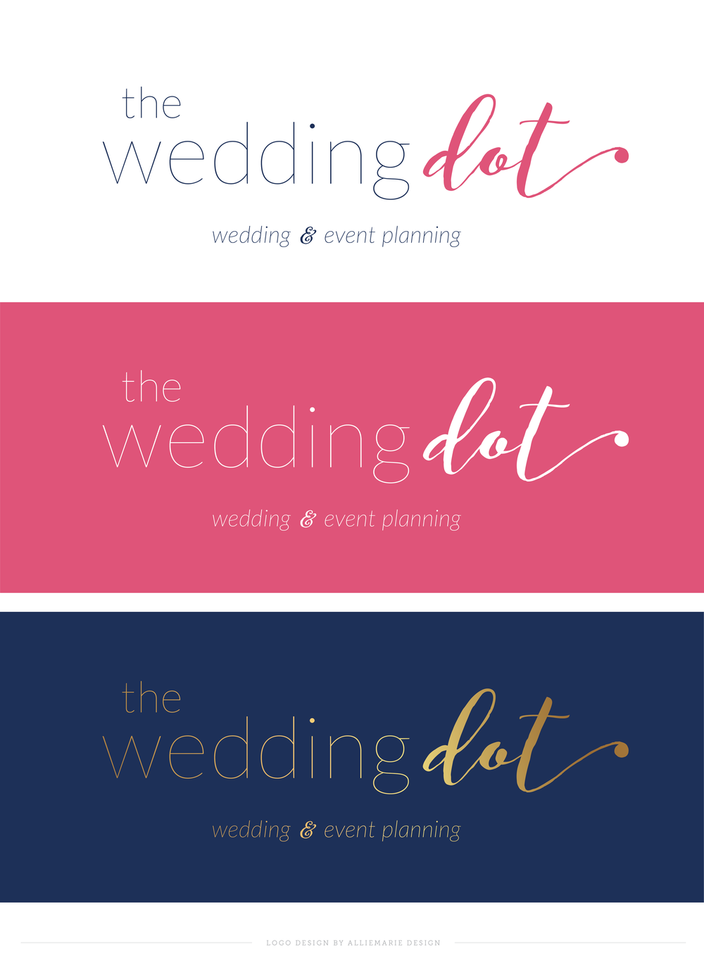 The Wedding Dot, Logo Design by AllieMarie Design