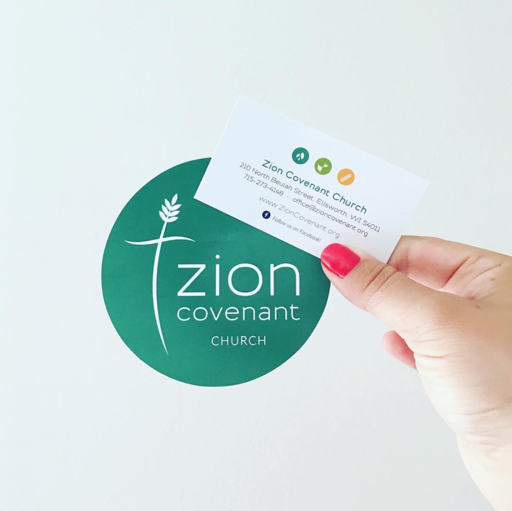 Zion Covenant Church  |  Bumper Sticker and Business Card Design by AllieMarie Design
