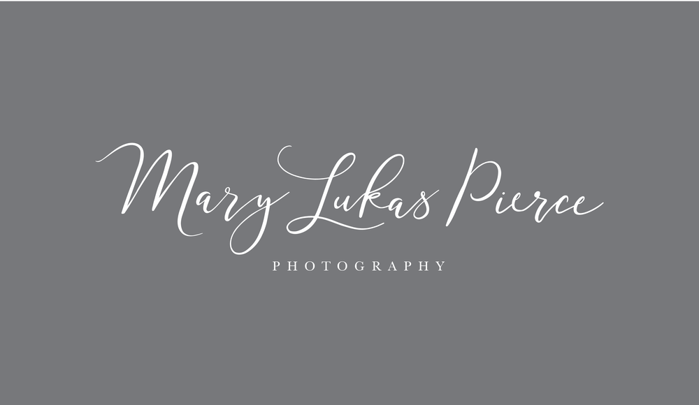 Mary Lukas Pierce Photography Logo and Visual Branding by AllieMarie Design