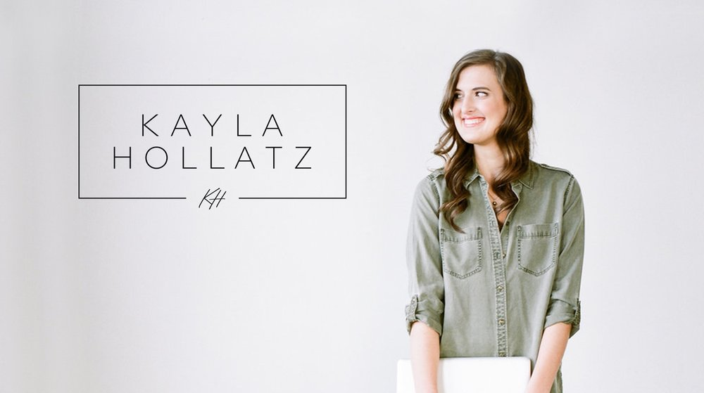 Kayla Hollatz Logo and Branding Design by AllieMarie Design