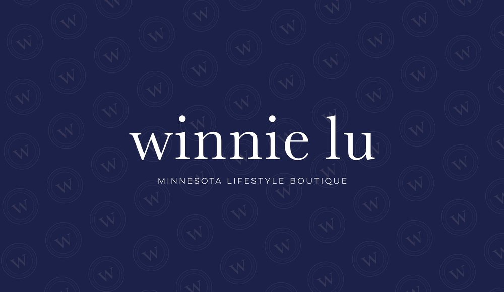 Winnie Lu Minnesota Lifestyle Boutique Logo and Branding Design by AllieMarie Design