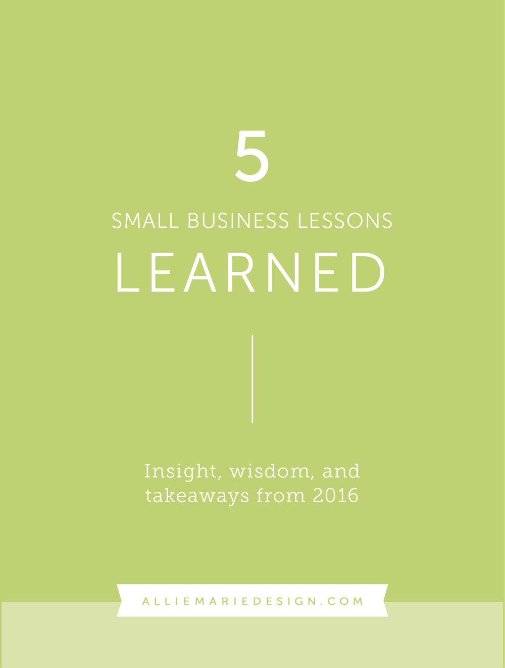 5 Small Business Lessons Learned this year, plus 5 inspirational prints!