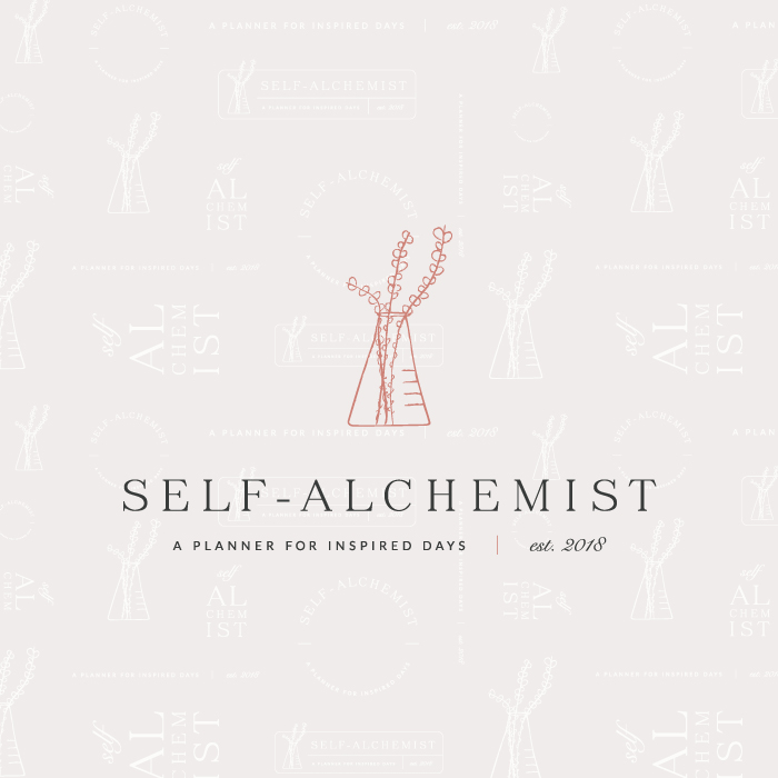 Self-Alchemist Logo Design and Pattern  |  Branding by AllieMarie Design