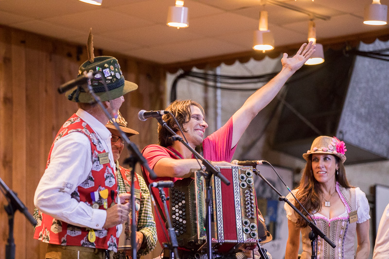Alex Meixner  , of the Alex Meixner Band, opens Wurstfest on Friday, November 4, 2016 with dignitaries from the town of New Braunfels, Texas.