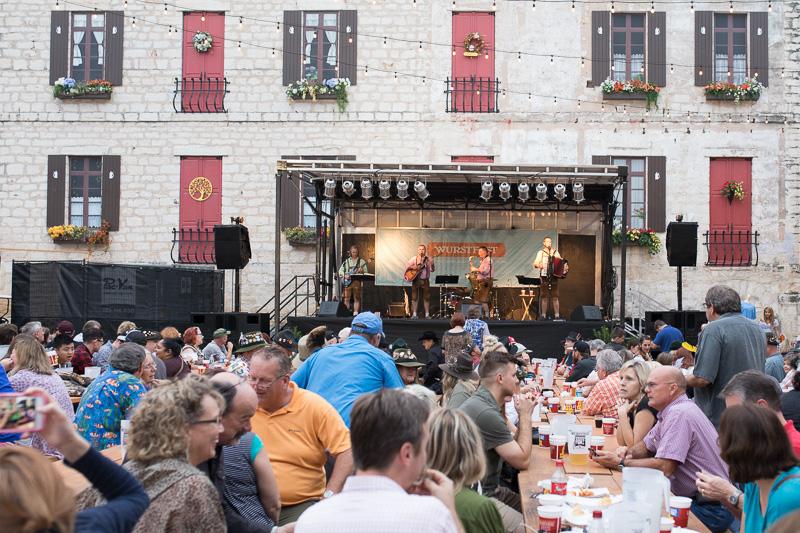 Alpenmusikanten performs on November 4, 2016 at the Stelzenplatz in New Braunfels, Texas at Wurstfest..