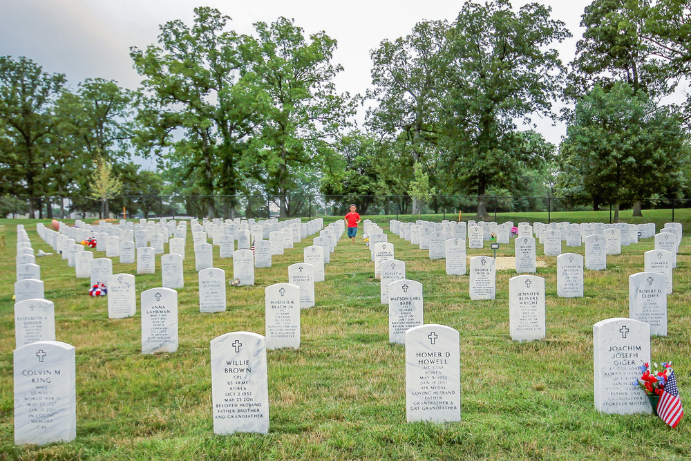 Jefferson Barracks National Cemetery, St Louis, Missouri  Photo circa 2013