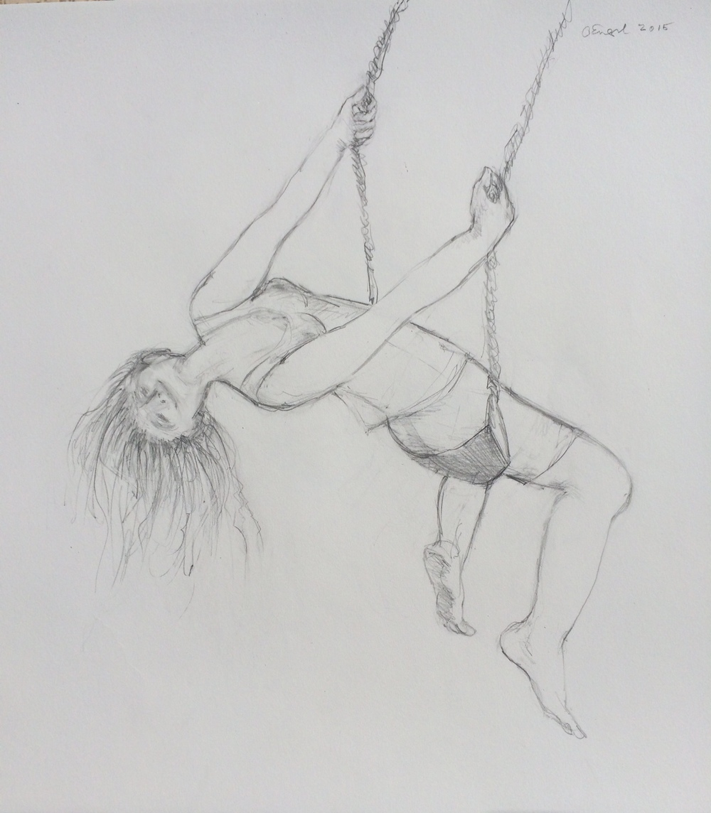""" Exhilaration, The Swing""    Graphite 11X17"