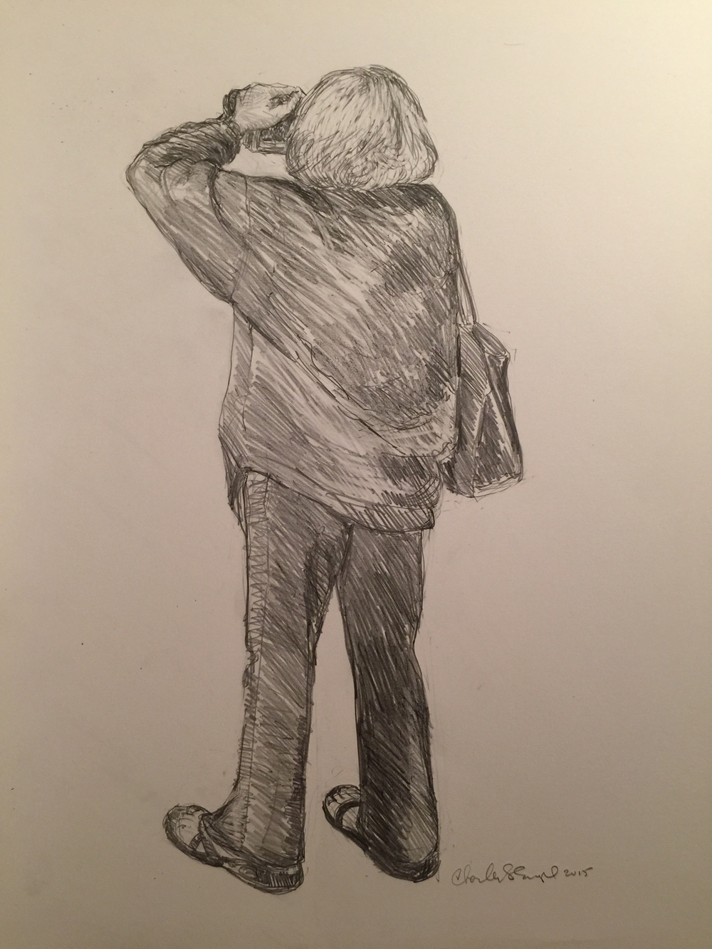 """The Photographer""  Graphite on Paper"