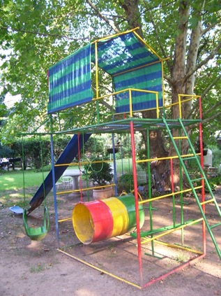 back in the day when kids were allowed to fall and scrape their knees, without the fear of a lawsuit.