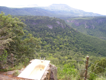 a bath with a view, hogsback