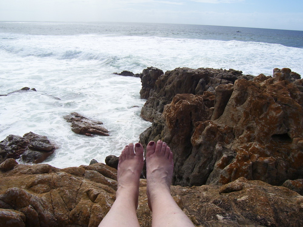 pedicure not keeping up with the trip. port edward