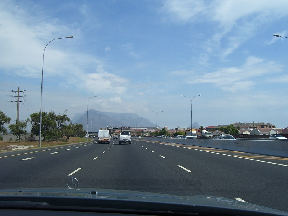 not quite the first view of table mountain i had in mind