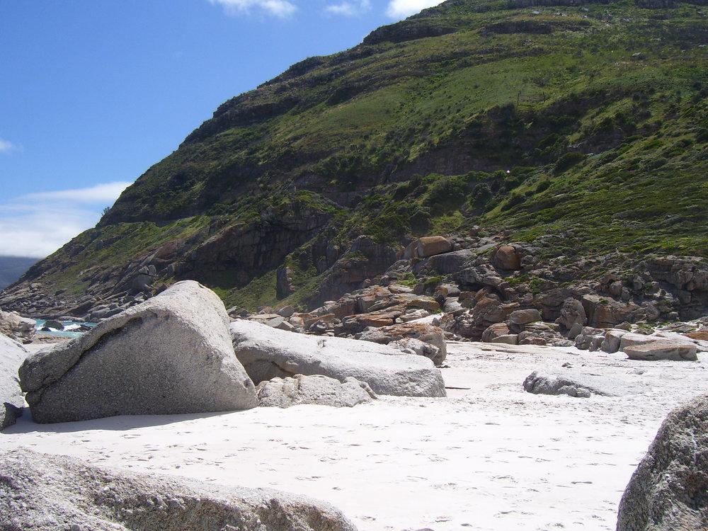 The parking end of Noordhoek beach