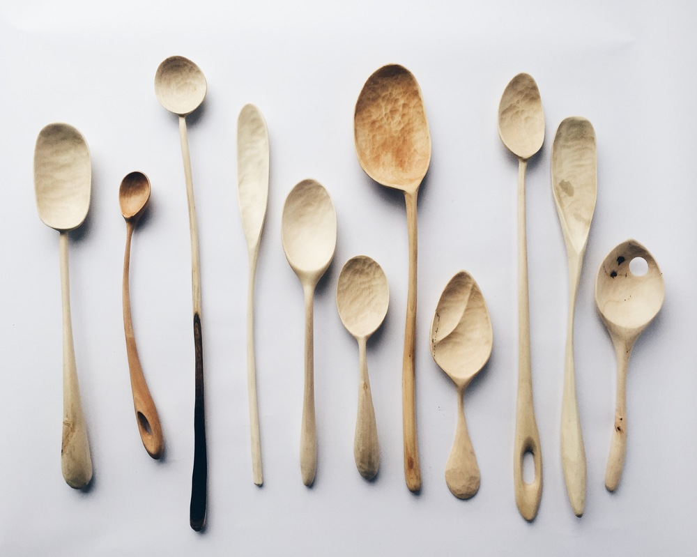 Handmade spoons from Wooden & Woven