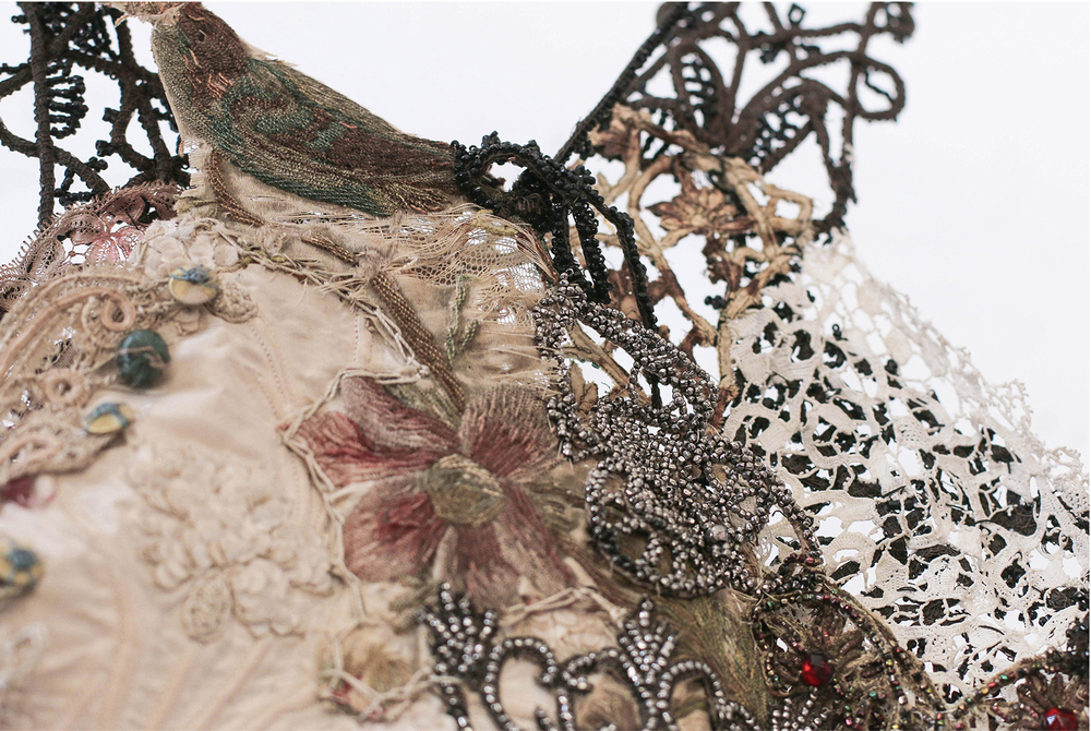 Embroidery Dyed Lace Garment