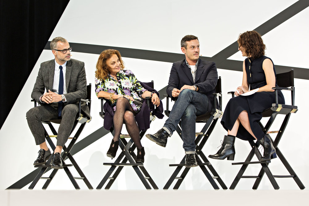 Paolo Riva, Diane von Furstenberg, Jonathan Saunders and Nicole Phelps