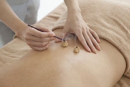 Moxabustion: the use of the herb, mugwort, when necessary to warm and nourish the body.