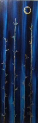 Bamboo Moon 12 x 36 Acrylic on canvas $185 - SOLD
