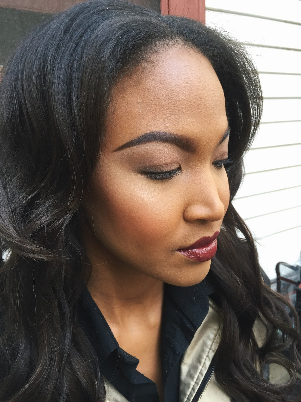Makeup for Will Navarro on Neka from Wilhelmina