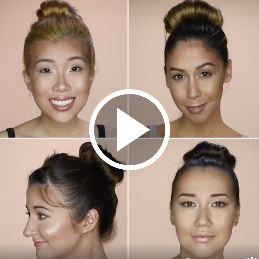 How to contour video for Blusher Makeup, hair and concept by me
