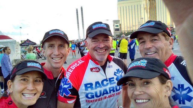 Dr Dana Ryan and Mike Erlanson with fellow Race Guards (L to R)
