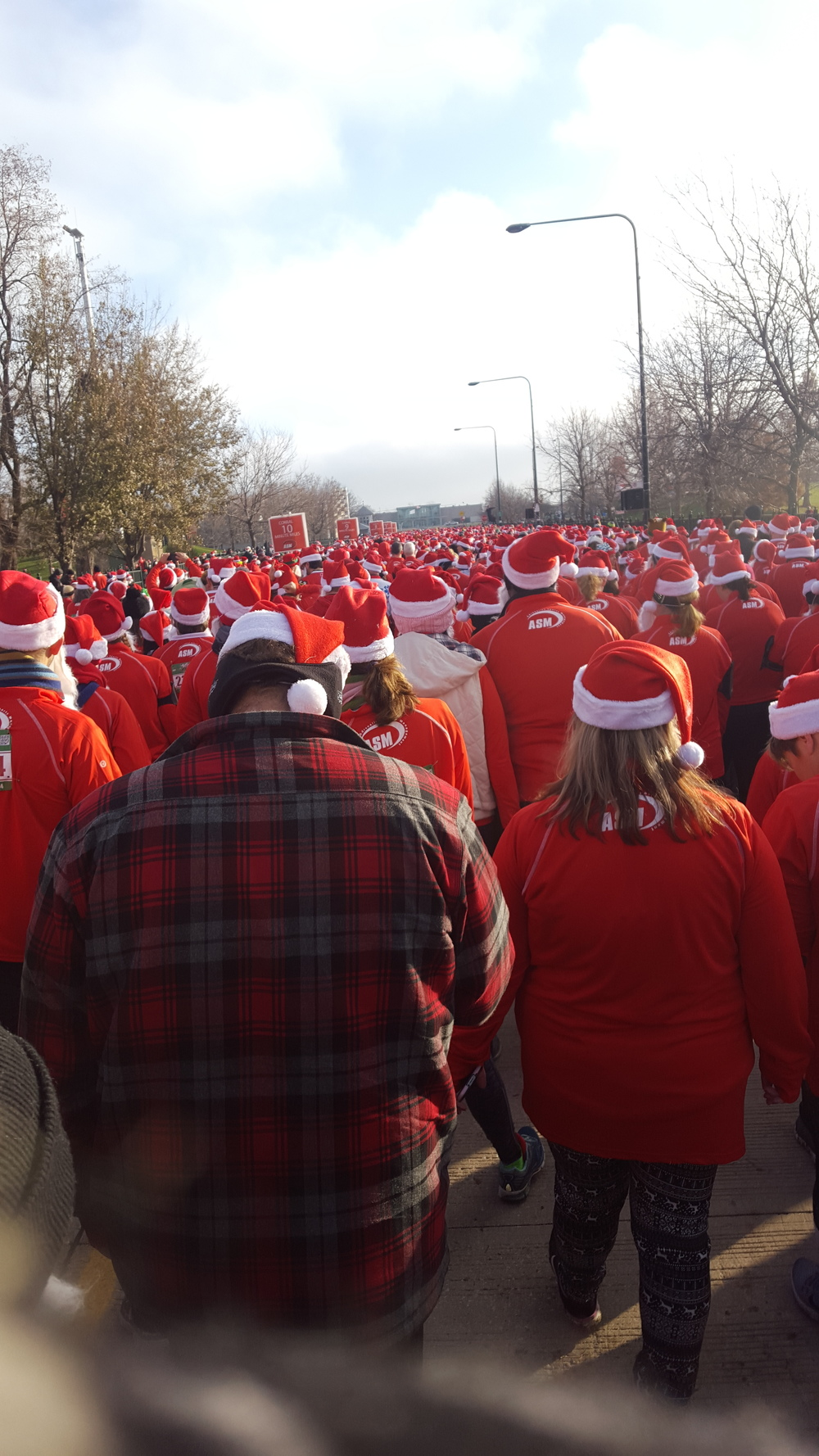Santas were in town for the Santa Hustle 5K!