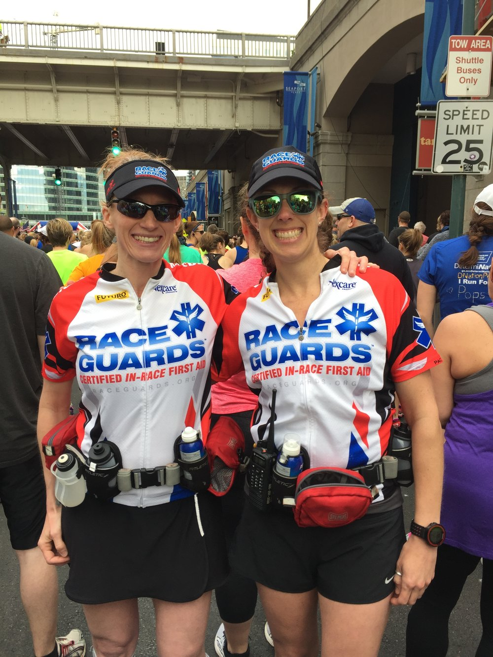 Lisa Klinkenberg (left) and her Race Guards partner