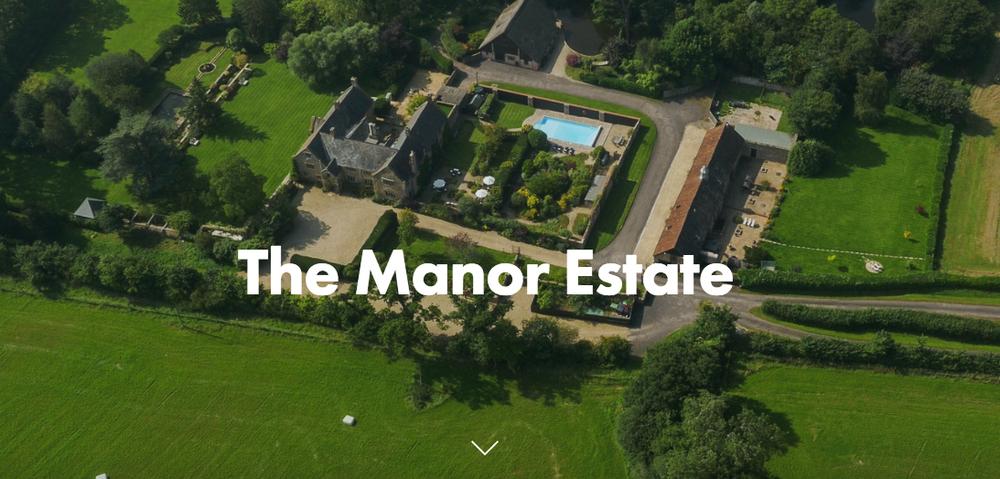 The Manor koi pond view