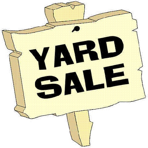 Join us this Saturday for a Yard Sale from 8am to 3pm.  Concessions will be for sale too.