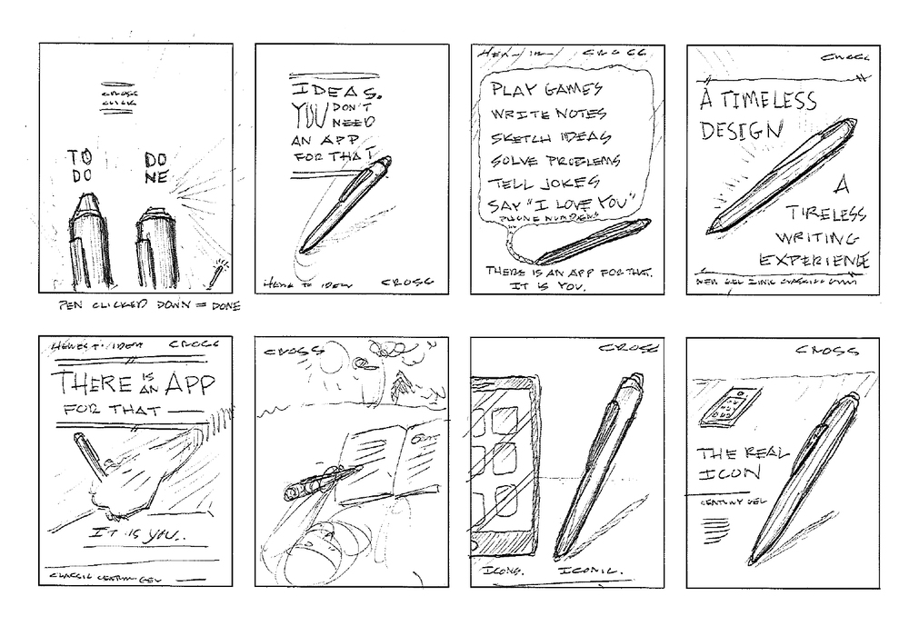 Sketches for ad advertising campaign ideas.