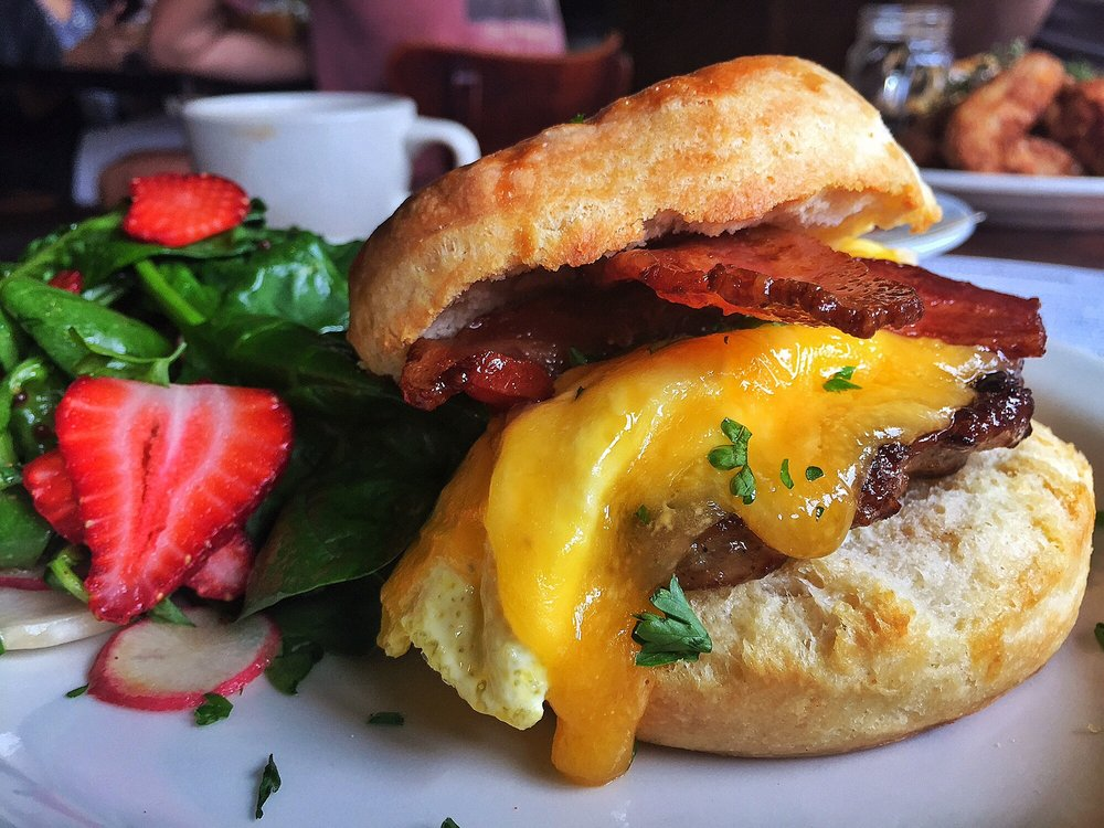 """Bombdiggity"" Biscuit Breakfast Sandwich"