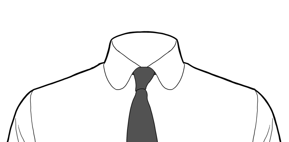White Shirt And Tie Png