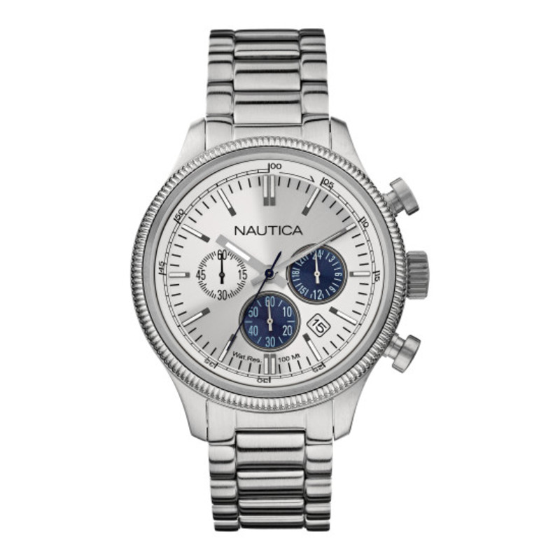 Nautica Silver Chronograph Watch