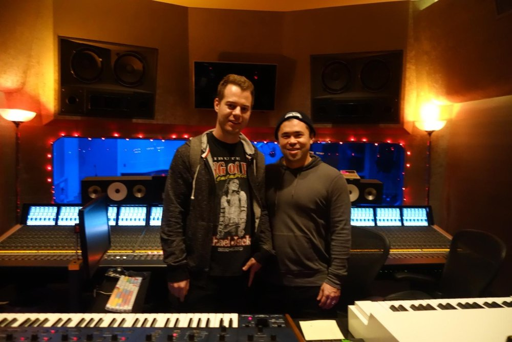 I look terrible in this photo, and I'm standing next to a GOD (MALAY) at Larrabee Studios in LA!
