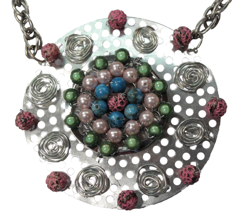 """Hardware Store Jewelry"" Wire Wrapped Statement Necklace Tutorial"