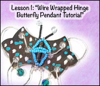 Wire Wrapped Hinge Butterfly Pendant Tutorial