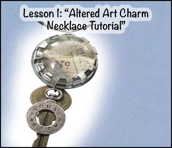 """Hardware Store Jewelry"" Altered Art Charm Necklace Tutorial"