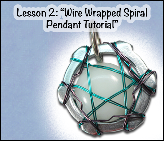 """Hardware Store Jewelry"" Wire Wrapped Spiral Pendant Tutorial"