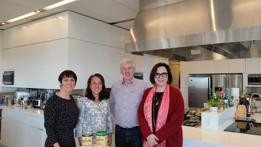 The Flahavan's team with Good Housekeeping Editor, Susan Westmoreland (far right)