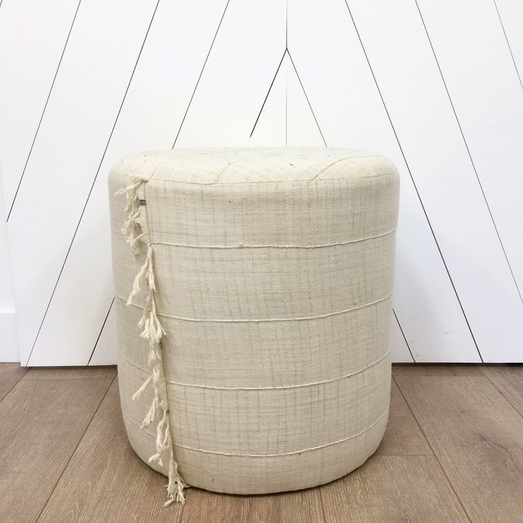 - CUSTOM NATURAL POUF