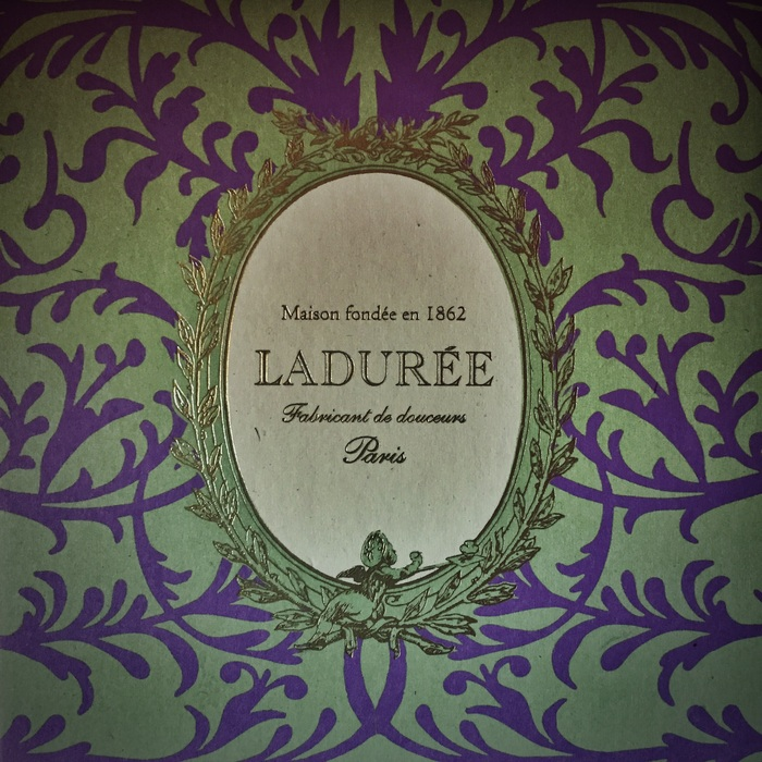 My box of macarons from Laduree - even the packaging was exquisite.