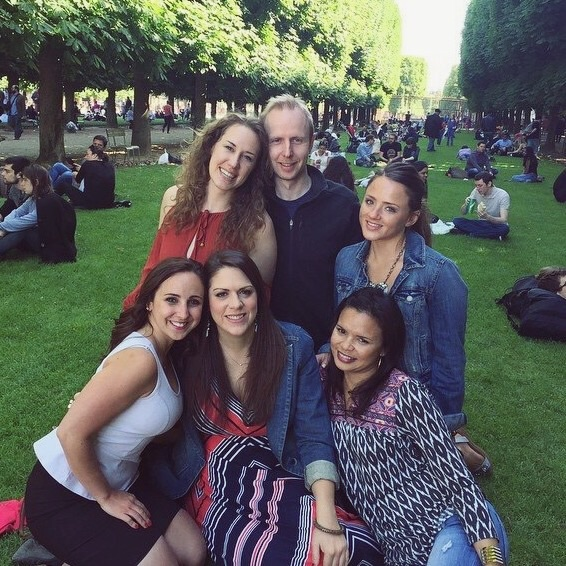 The gals (minus Lexi) and Rob in the Luxembourg Gardens.