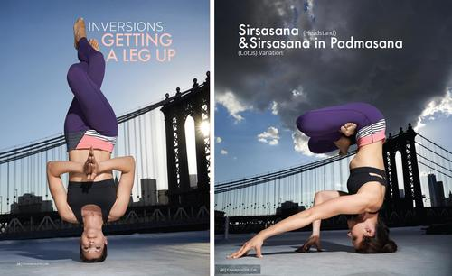 Inversion Article 8 Page Spread Yoga Magazine January 2015