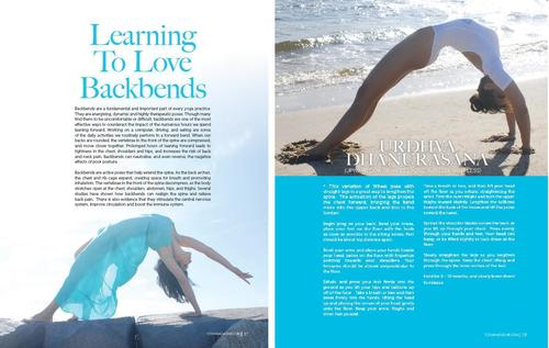 Backbend Article 7 Page Spread Yoga Magazine April 2014