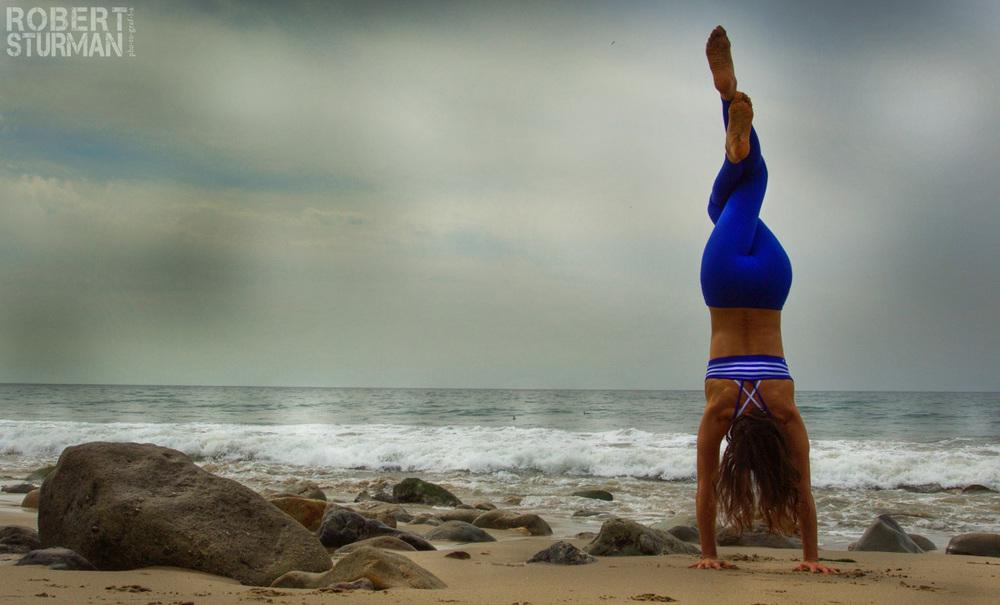 handstand malibu beach