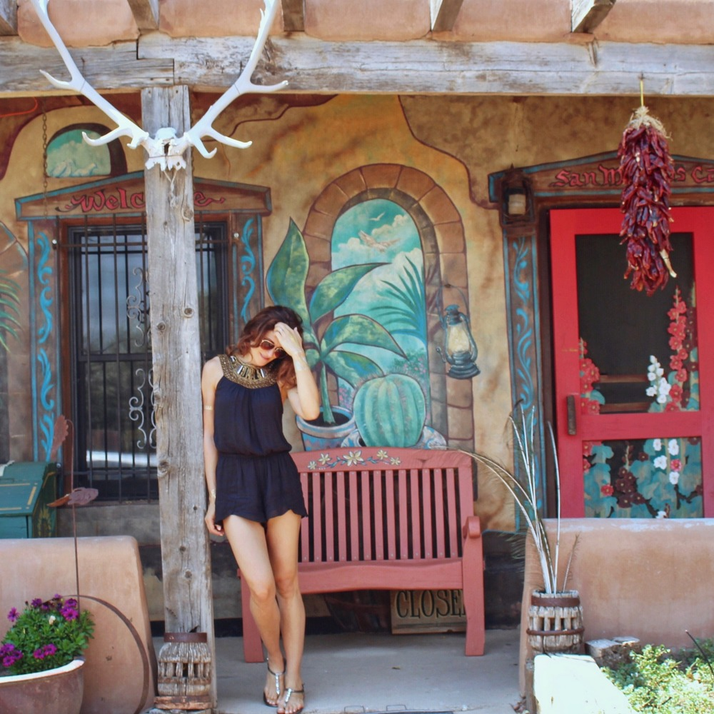 Quaint cafe on the Turquoise Trail, somewhere in between Santa Fe & Albuquerque