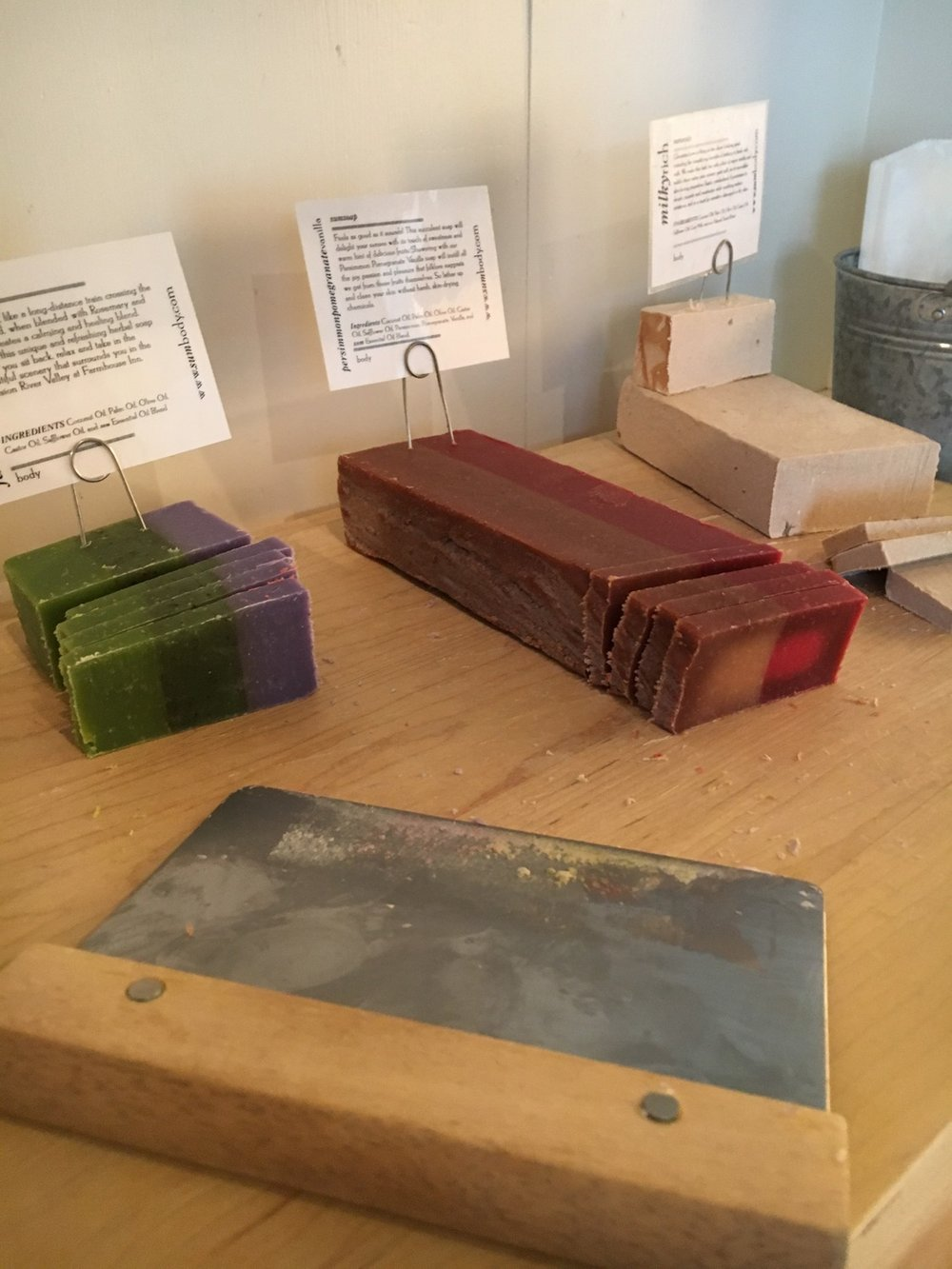 Homemade soaps at Farmhouse Inn