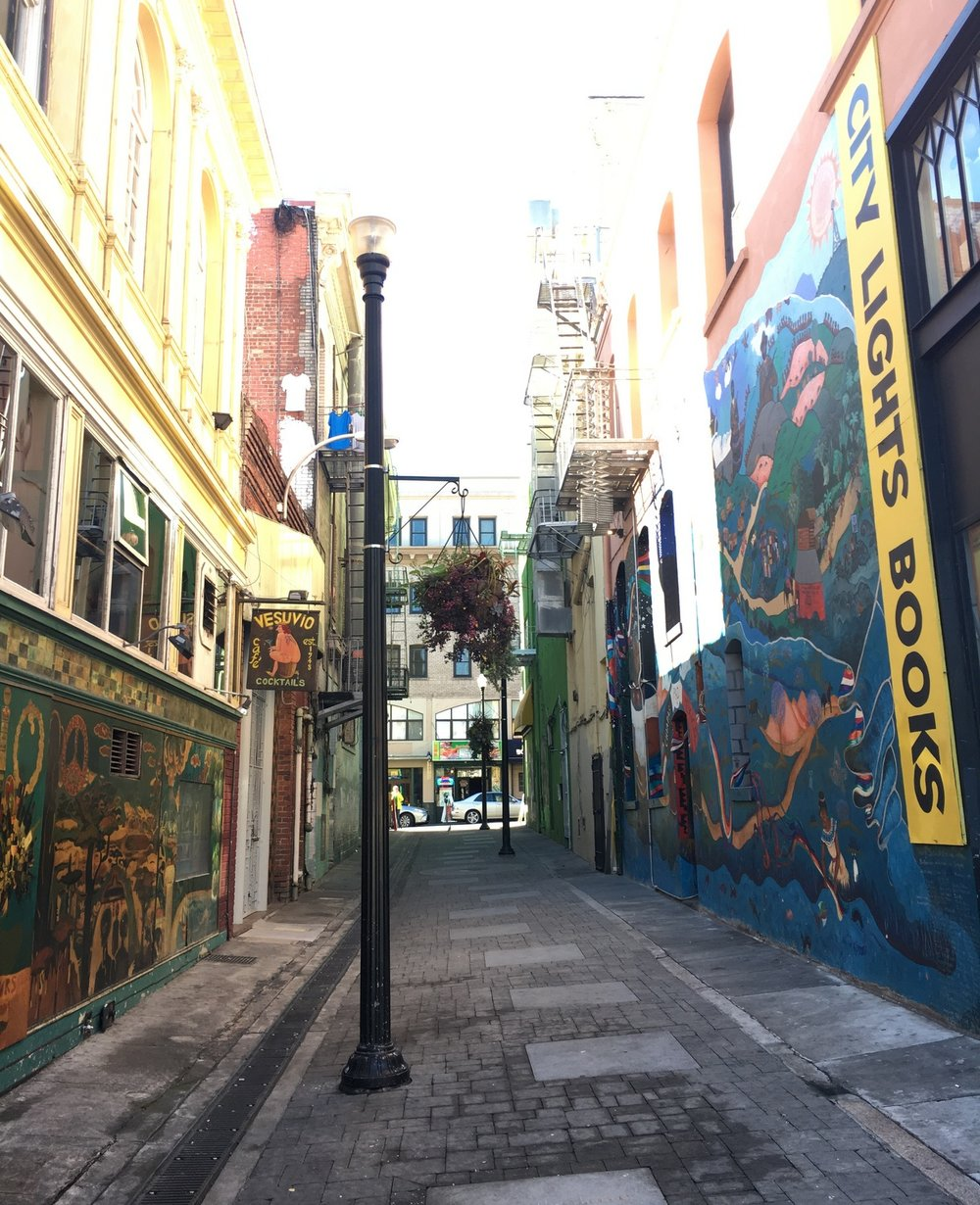 Jack Keouac Alleyway in San Francisco