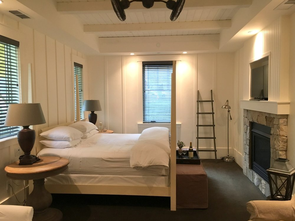 Our cozy, rustic room at Farmhouse Inn